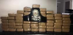Mais de 55 kg de maconha são apreendidos em Linhares