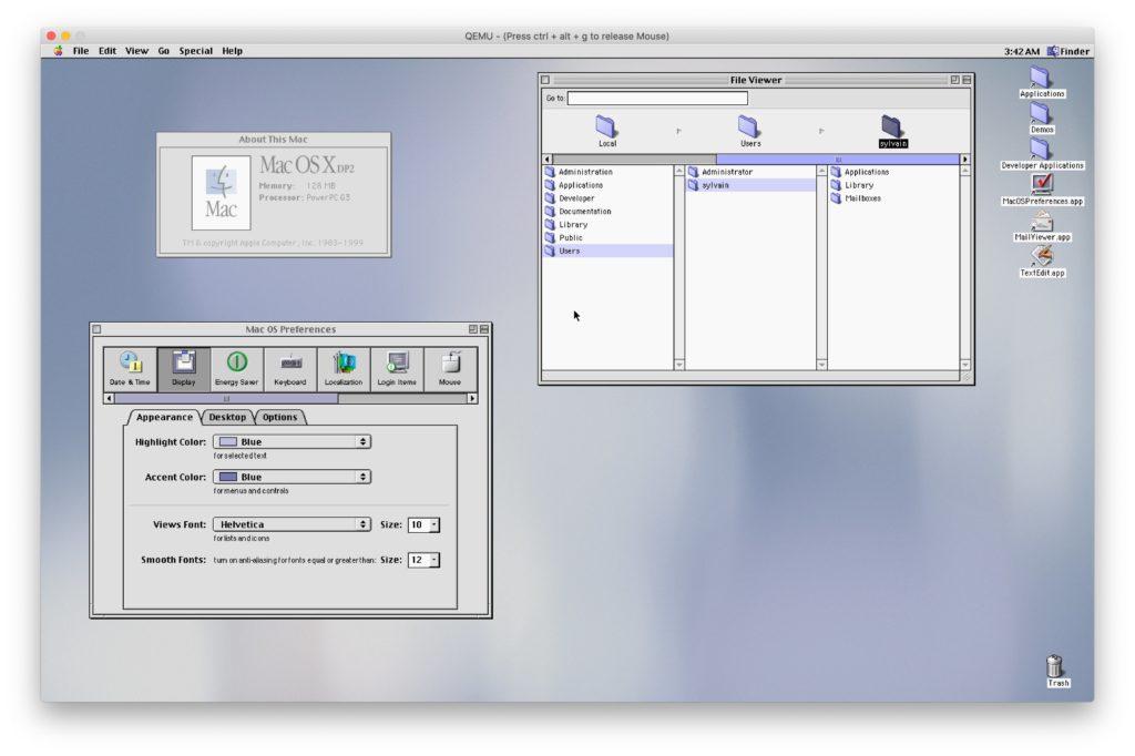 Mac OS X DP2