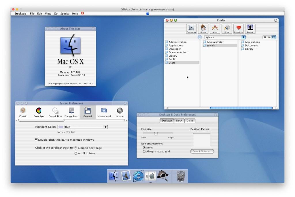 Mac OS X DP4