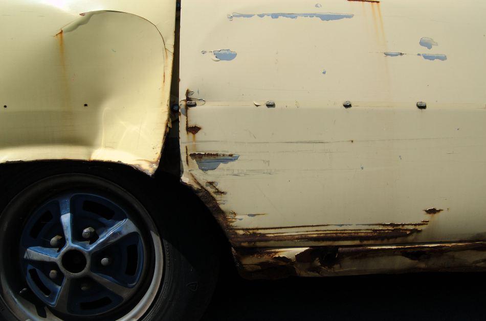 Rust on a Car Door Panel