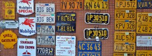 Vintage California License Plates