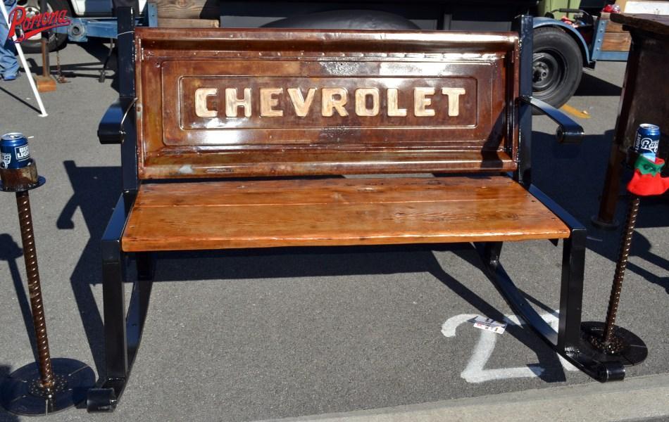 Custom Chevy Tailgate Bench