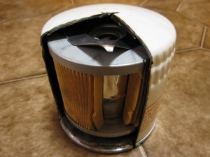Oil Filter Cutaway