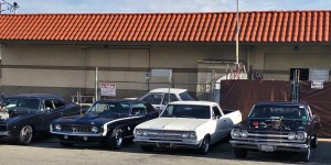 Line Up of Camaro, El Camino & Chevelle Muscle Cars