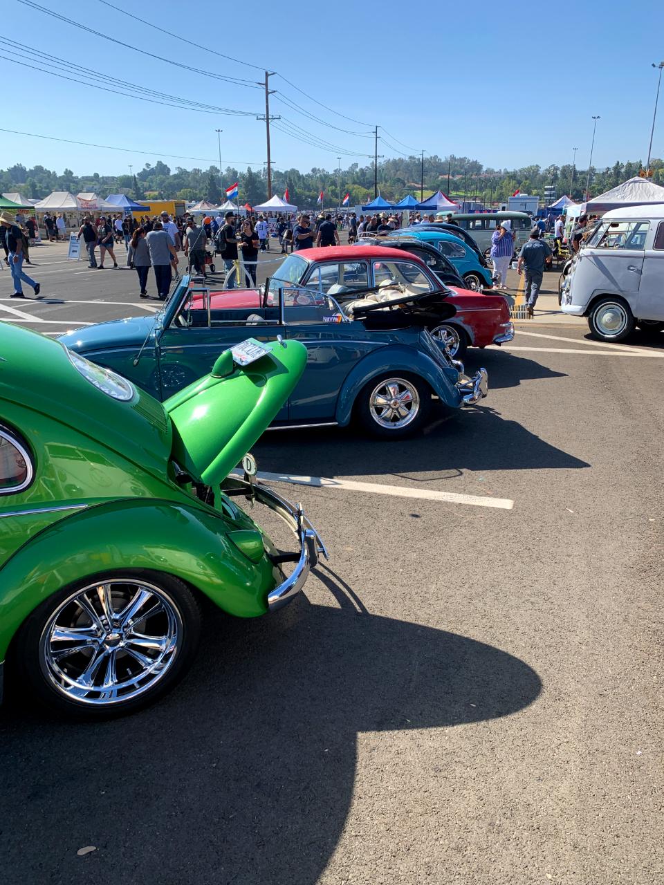 Aircooled VWs at the Pomona Swap Meet