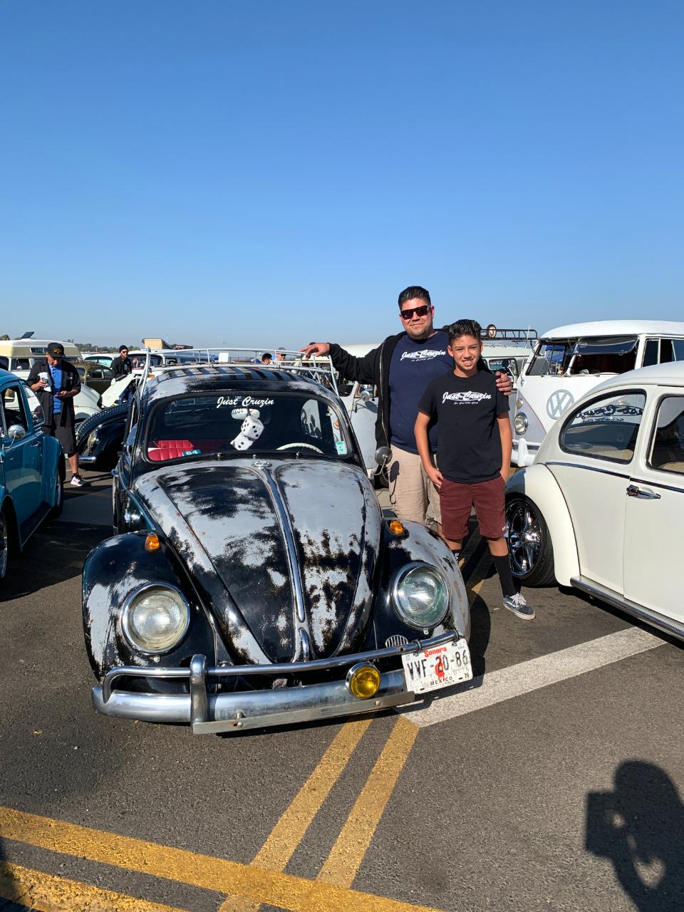 Juan Olivas with his 1964 VW Beetle