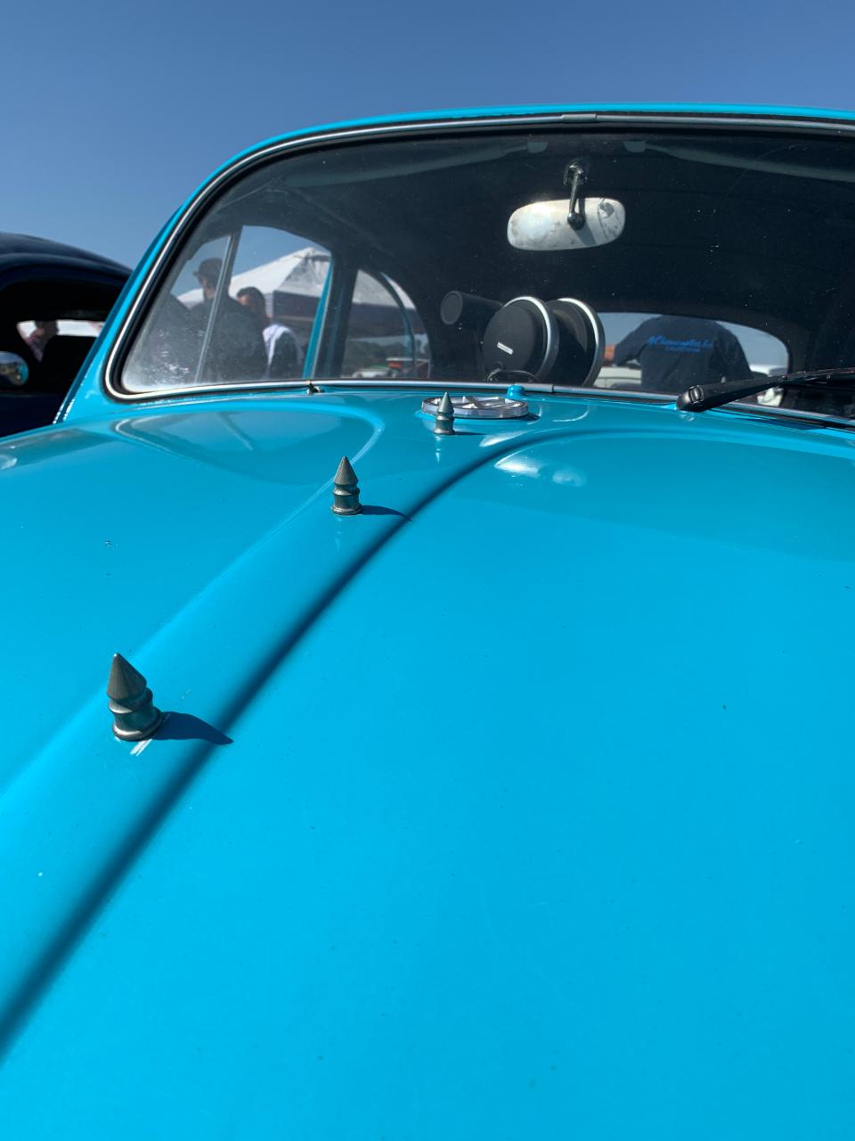 Spikes on 1966 VW Bug hood