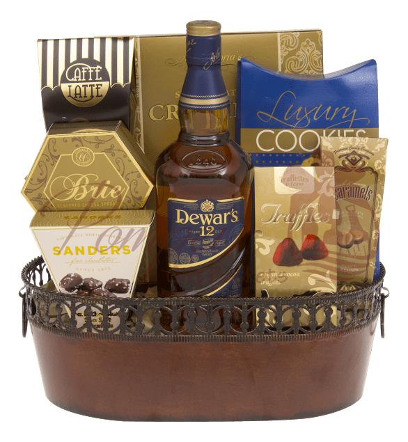 The Ancestor's Scotch Gift Basket by Pompei Baskets