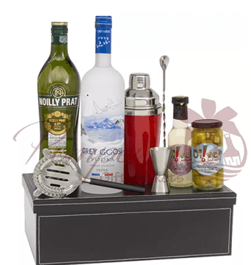 Father's Day Liquor Basket Gift Set
