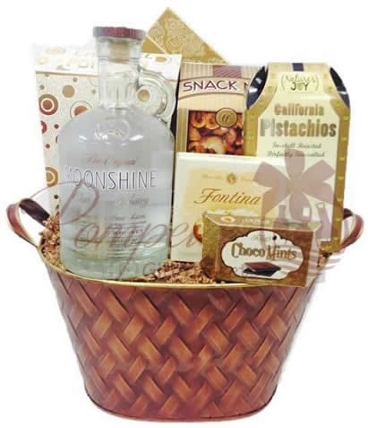 Moonshine gift baskets nj nj moonshine gift baskets whiskey basket nyc negle Image collections