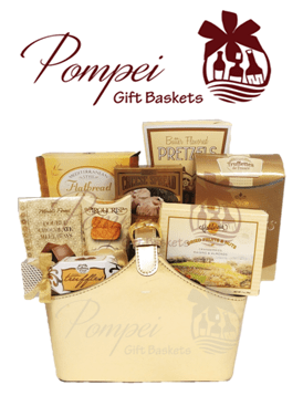 Gift of gold gourmet gift basket by pompei baskets gift of gold gourmet gift basket negle Image collections