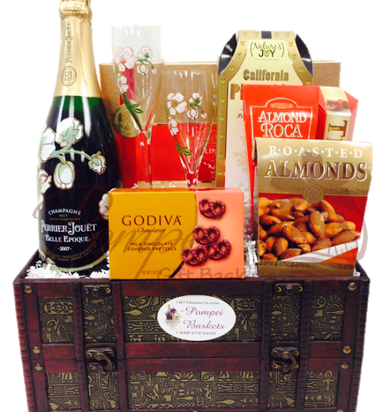 Godiva And Champagne Gift Basket NYC