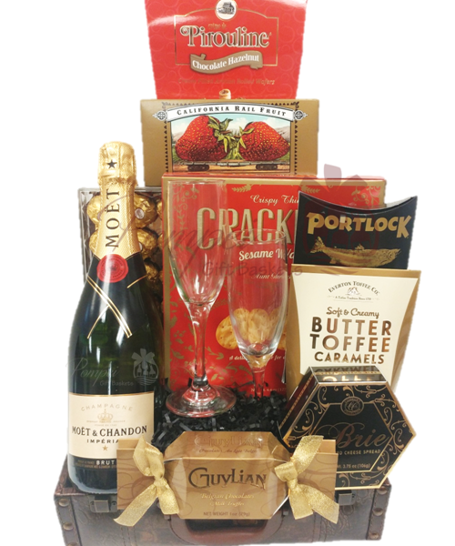 supreme love champagne gift basketpompei baskets, Ideas