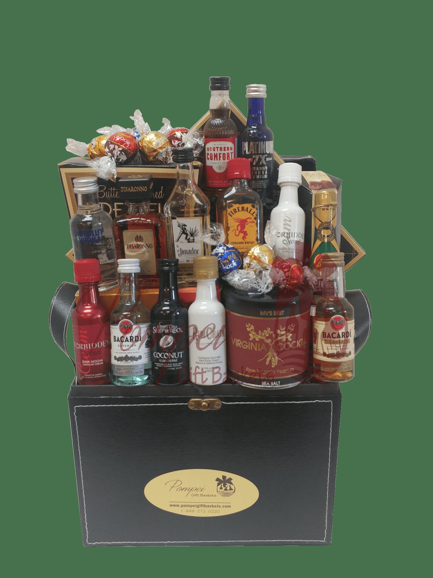 Super Sampler Mini Bar Gift Basket By Pompei Baskets