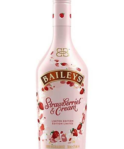 Baileys Strawberry Cream Liqueur From Pompei Baskets