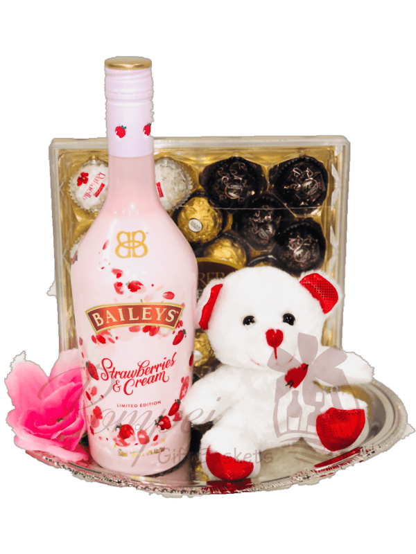 I Love You Beary Much Liqueur Gift Basket From Pompei Baskets