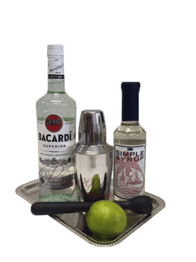 Simply Superior Rum Gift Basket, Bacardi Gift Basket, Bacardi Gift Set, Send Bacardi Online, Mojito Gift Basket, Mojito Gift Set, Rum Mojito Gifts