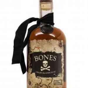 Bones Rum, Virgin Island Rum, Caribbean Rum, Engraved Bones Rum, Halloween Rum, Dark Aged Rum, Rum from St Thomas, St Thomas Rum