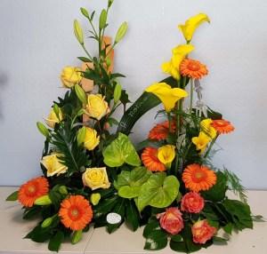 fleurs-Devant-de-tombe-enterrement-tombe-pompes-funebres-odet