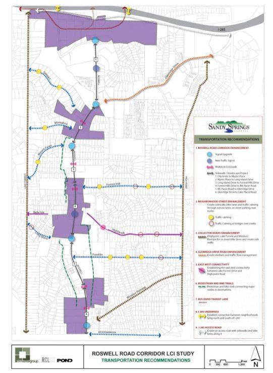 Roswell Road Corridor Study Sandy Springs Georgia 1