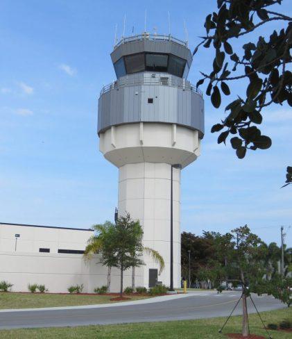Air Traffic Control Tower ATCT & Base Building Facility Ft Lauderdale Executive Airport Florida 1