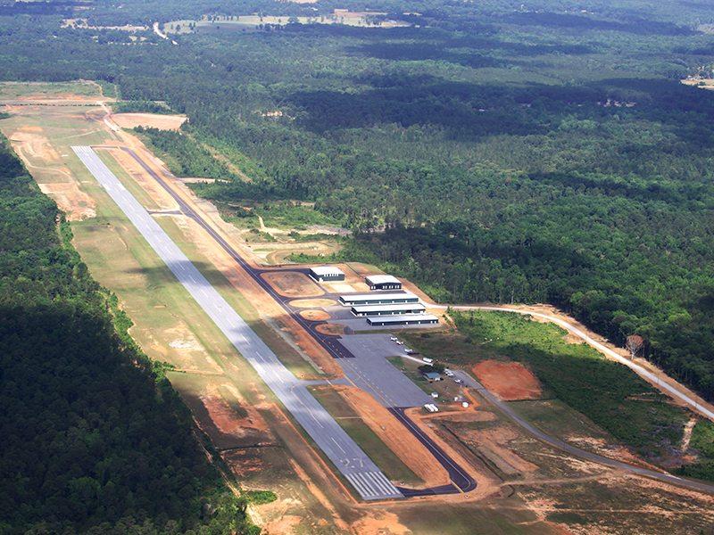Airport Runway aerial view