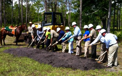 Pond celebrates groundbreaking at Colt Creek State Park