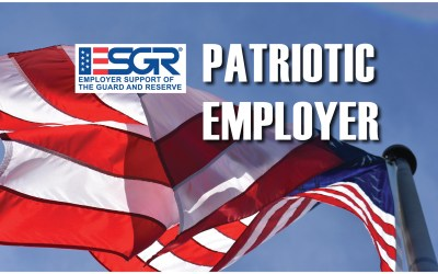 Pond receives the ESGR Patriotic Employer Award recognition
