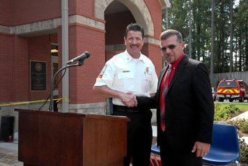 Chief Randy Crider and Pond Field Superintendent Steve Jarrell.