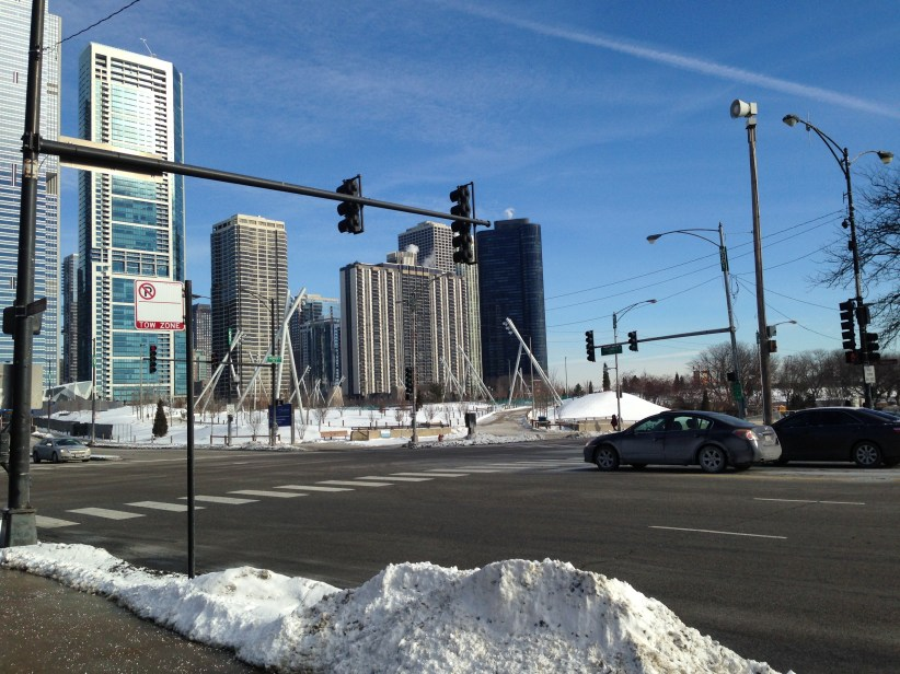Trip to Chicago: Walking towards the new Maggie Daley Park