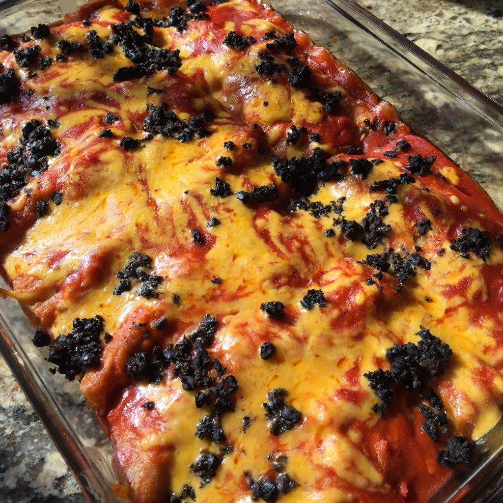 Ground Beef and Cheddar Enchiladas: Baked and gooey and oh my!