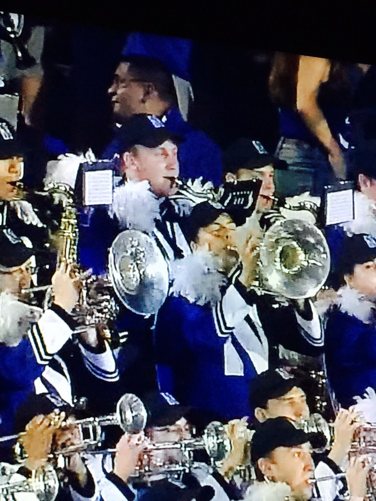 My college boy in the NU band