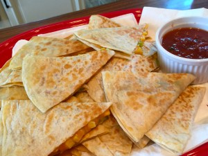 Quick and Easy Cheddar Cheese and Green Chile Quesadillas
