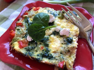 Egg, Spinach, Artichoke and Feta Squares – Breakfast on the Go!