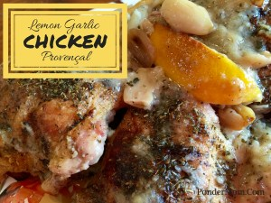 Chicken Provençal: Succulent Meat with Lemon, Shallots and Garlic