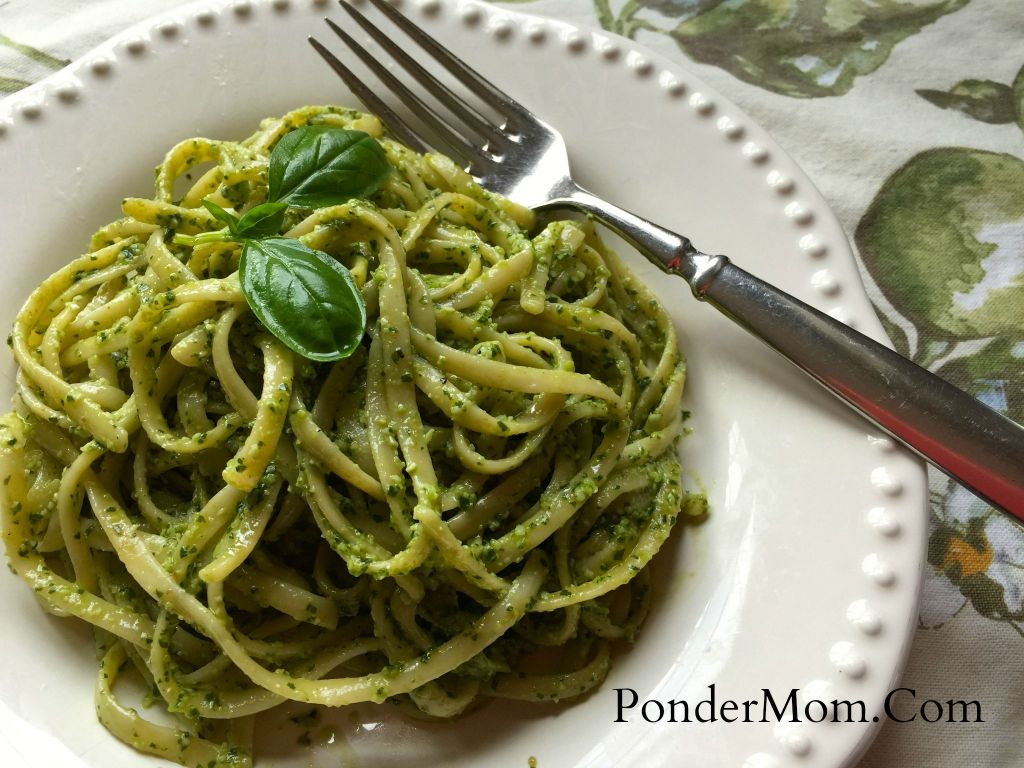 Recipes for summer zucchini and basil: Basil Pesto Pasta - Pronto!