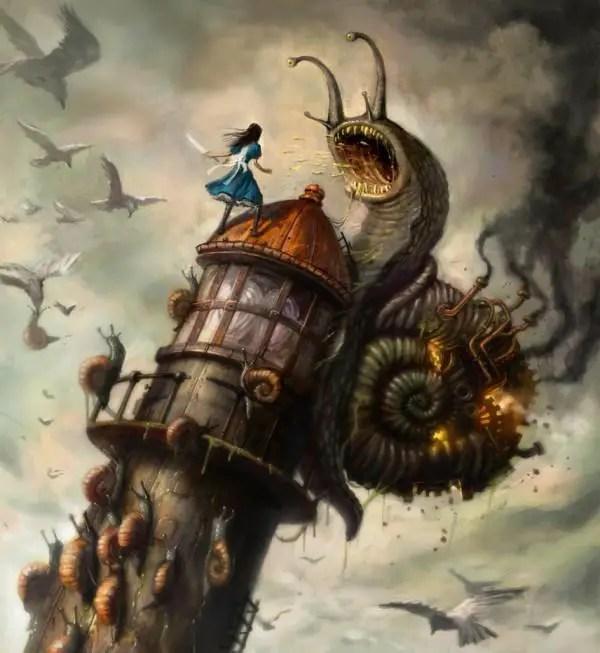 Snailfight by ken wong 600x653 Artwork by Ken Wong