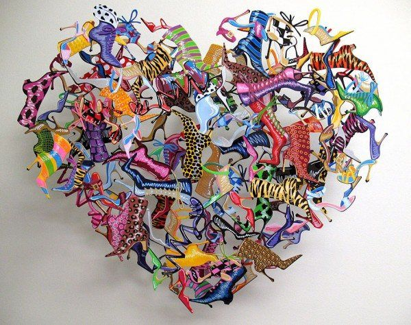 0009 Heart and Soles 600x474 Unbelievable Metal Sculptures by David Kracov