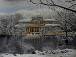 Palacio de Cristal (2000) |Homenaje del pintor realista Ricardo Renedo al Palacio de Cristal del Retiro de Madrid