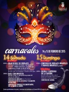 Carnavales 2015 Torrejón de Ardoz | Comunidad de Madrid | Cartel