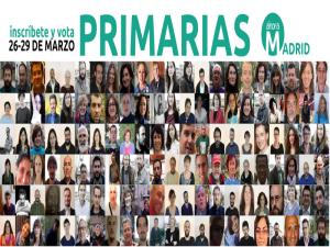 Primarias Ahora Madrid   Del 26 al 29 de marzo de 2015   5 medidas urgentes   EMA2015
