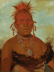 'Shón-ka-ki-he-ga, Jefe Caballo, gran jefe pawnee' (1832)   George Catlin   Smithsonian American Art Museum,   Washington, D.C.   'La ilusión del Lejano Oeste'   Museo Thyssen-Bornemisza   Madrid   Otoño 2015-2016