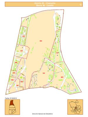 Plano barrio Castilla | Distrito Chamartín | Madrid