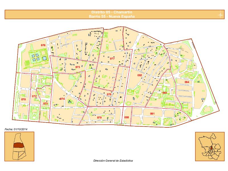 Plano barrio Nueva España | Distrito Chamartín | Madrid