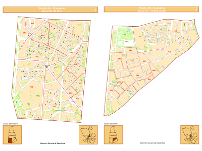 Planos barrios El Viso y Ciudad Jardín | Distrito Chamartín | Madrid