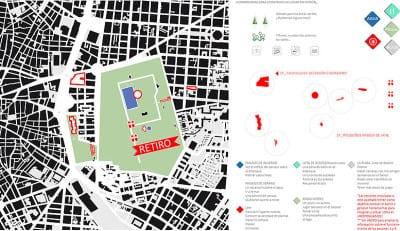'De casa a la plaza'   Marta Kayser y  alumnos Colegio Hermanos Amorós   Levadura 2015   CentroCentro Cibeles   Madrid   Plano y herramientas para construir un lugar común