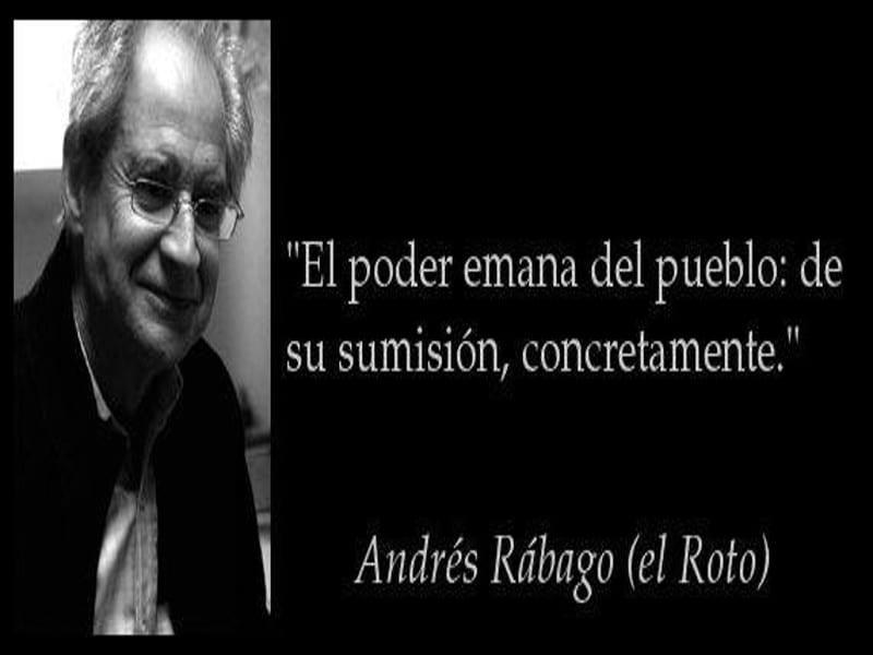 'El poder emana del pueblo...'   Andrés Rábago   'El Roto'