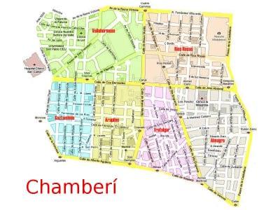 Los 6 barrios del distrito de Chamberí de Madrid