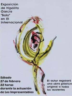 'Los Impresentables. Poesía en El Internacional' | Exposición Hipólito 'Bolo' García Fernández | Toledo | 27/02/2016 | Cartel