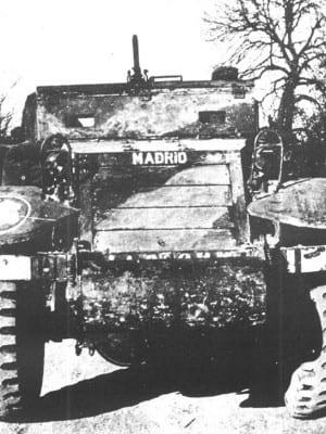 'Madrid', vehículo blindado de 'La Nueve' de la División Leclerc que liberó París en 1944
